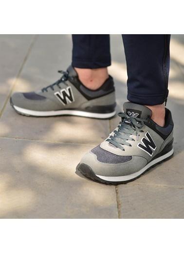 Walkway 523 Füme-Siyah Unisex Spor Ayakkabı Füme